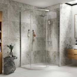 Coral 8mm Offset Quadrant Shower Enclosure 1100 x 900mm