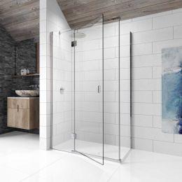 Kudos Pinnacle 8 Hinged Shower Enclosure 800 x 760 Left Hand