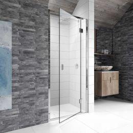 Kudos Pinnacle 8 Hinged Shower Enclosure 1500 Right Hand