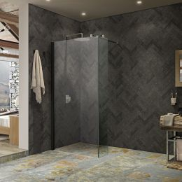 Kudos Ultimate 2 10mm Wet Room Glass Fixed Deflector Panel 300