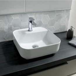 Layla 1 Tap Hole Freestanding Square Basin 500mm
