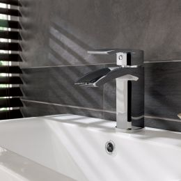 Meandro Basin Mixer with Click Waste