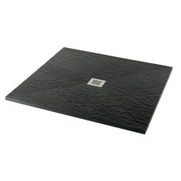 Minerals Slate Square Shower Tray Jet Black 1000 x 1000mm