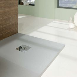 Nordic Slate Square Shower Tray Grey 800 x 800mm