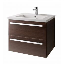 Purity Wall Hung Vanity Unit & Basin Chestnut 600mm