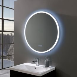 Radiance Ultra Slim Round LED Illuminated Mirror 700mm