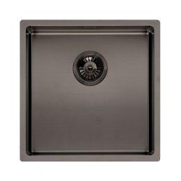 Reginox Miami Stainless Steel Kitchen Sink Gun Metal 440 x 440mm