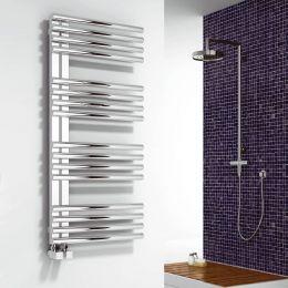 Reina Adora Designer Towel Radiator Polished Stainless Steel 500 x 1106mm