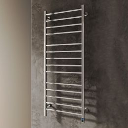 Reina Arnage Dry Electric Polished Stainless Steel Designer Radiator 500 x 1200mm