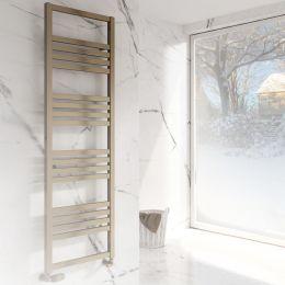 Reina Bolca Designer Towel Radiator Satin Bronze 485 x 870mm