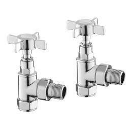 Reina Bronte Angled Radiator Valves Chrome