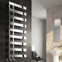 Reina Capelli Designer Towel Radiator Polished Stainless Steel 500 x 1235mm