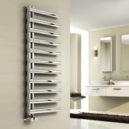 Reina Cavo Designer Towel Radiator Polished Stainless Steel 500 x 1230mm