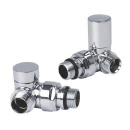 Reina Crova Corner Radiator Valves Chrome