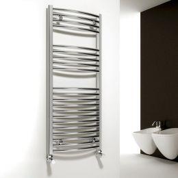 Reina Diva Curved Designer Towel Radiator Chrome 750 x 1800mm