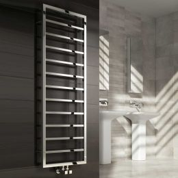 Reina Egna Designer Towel Radiator Polished Stainless Steel 500 x 1255mm