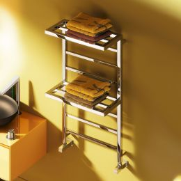 Reina Elvina 2 Steel Designer Towel Radiator Chrome 500 x 1000mm