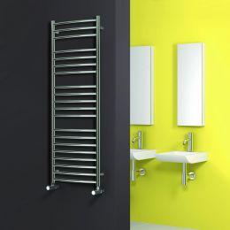 Reina Eos Designer Towel Radiator Polished Stainless Steel 600 x 1500mm