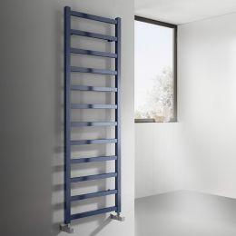 Reina Fano Designer Towel Radiator Satin Blue 485 x 1500mm