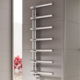 Reina Grosso Polished Stainless Steel Designer Towel Radiator 500 x 850mm