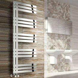 Reina Lovere Designer Towel Radiator Polished Stainless Steel 500 x 1230mm