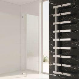 Reina Piazza Polished Stainless Steel Designer Towel Radiator 500 x 870mm
