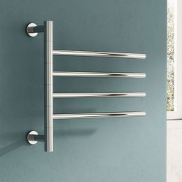 Reina Rance Dry Electric Polished Stainless Steel Designer Radiator 500 x 475mm