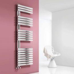 Reina Scalo Designer Towel Radiator Polished Stainless Steel 500 x 1535mm