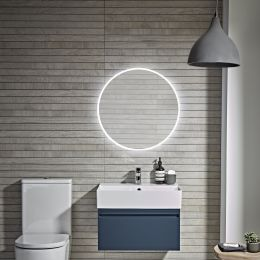 Tavistock Resonate Round LED Illuminated Mirror with Bluetooth Speakers 600mm