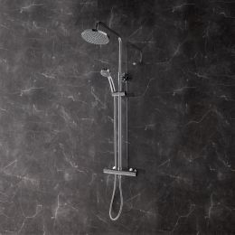 Rondo Thermostatic Bar Valve Shower System with Fixed Shower Head