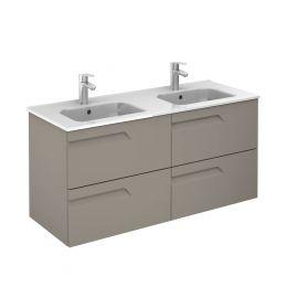 Royo Vitale 4 Drawer Wall Hung Vanity Unit & Basin Smoky Matt 1210mm