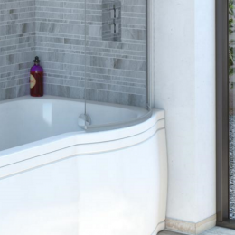 Trojan P Shaped Clear Bath Screen Seal