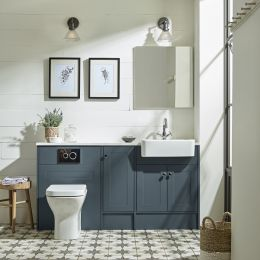 Tavistock Legacy Furniture Run & Basin Matt Dark Grey 1600mm