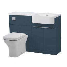 Tavistock Match Furniture Run & Basin Oxford Blue 1200mm Left Hand