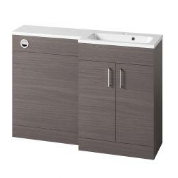 Tavistock Nexus Combination Furniture & Basin Urban Grey 1200mm Right Hand