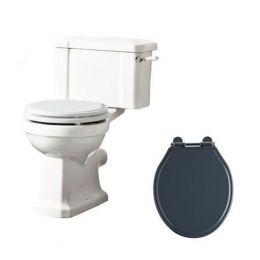 Tavistock Vitoria Close Coupled Toilet with Dark Grey Soft Close Seat