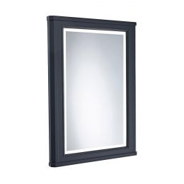 Tavistock Vitoria Illuminated Mirror & Frame Matt Dark Grey 556 x 790mm