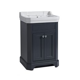 Tavistock Vitoria Vanity Unit & One Tap Hole Basin Dark Grey 600mm