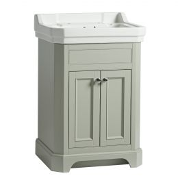 Tavistock Vitoria Vanity Unit & Two Tap Hole Basin Pebble Grey 600mm