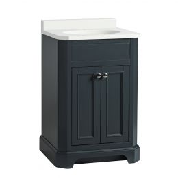 Tavistock Vitoria Vanity Unit & Undermount Basin Dark Grey 600mm
