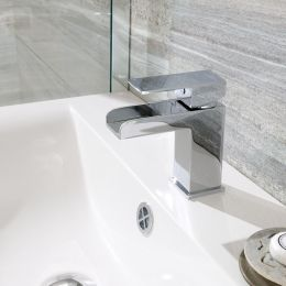 Trent Open Spout Basin Mixer with Click Waste Lifestyle