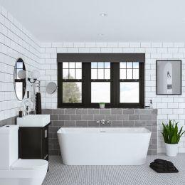 Trojan Darlington D shaped bath roomset