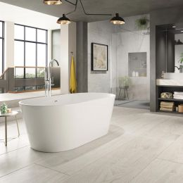 Trojan Hampton Freestanding Double Ended Bath 1700 x 800 with Waste  roomset