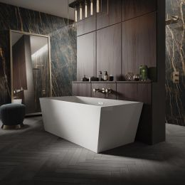 Trojan Marlborough Freestanding Double Ended Bath 1700 x 800 with Waste roomset