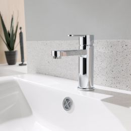 Tweed Basin Mixer with Click Waste Lifestyle