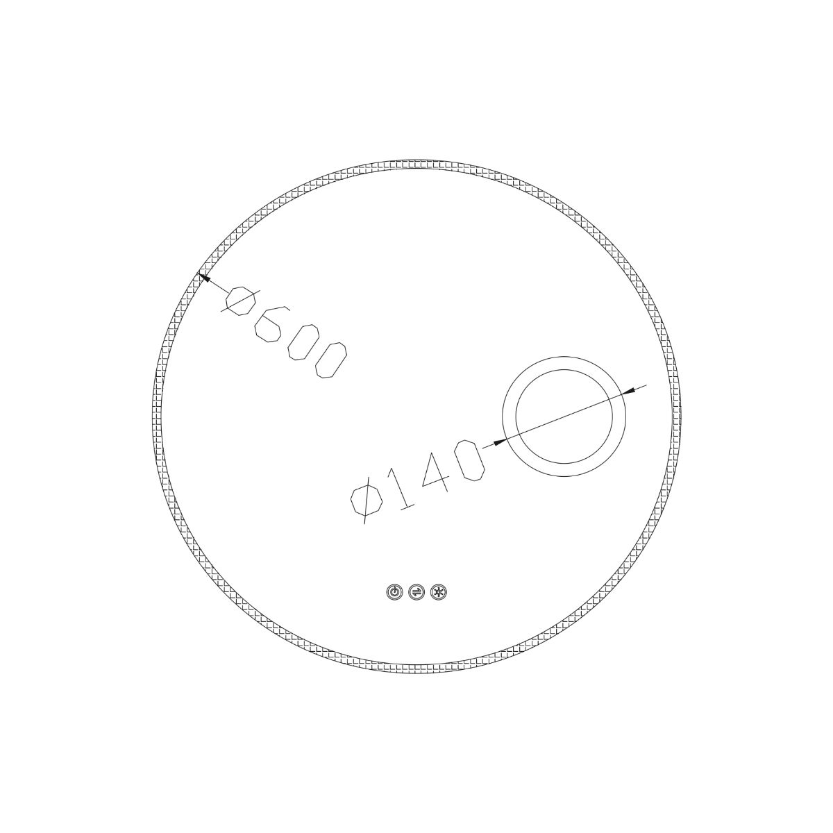 allureultraslimroundledilluminatedmirrorwithmagnifier600mmdimensions