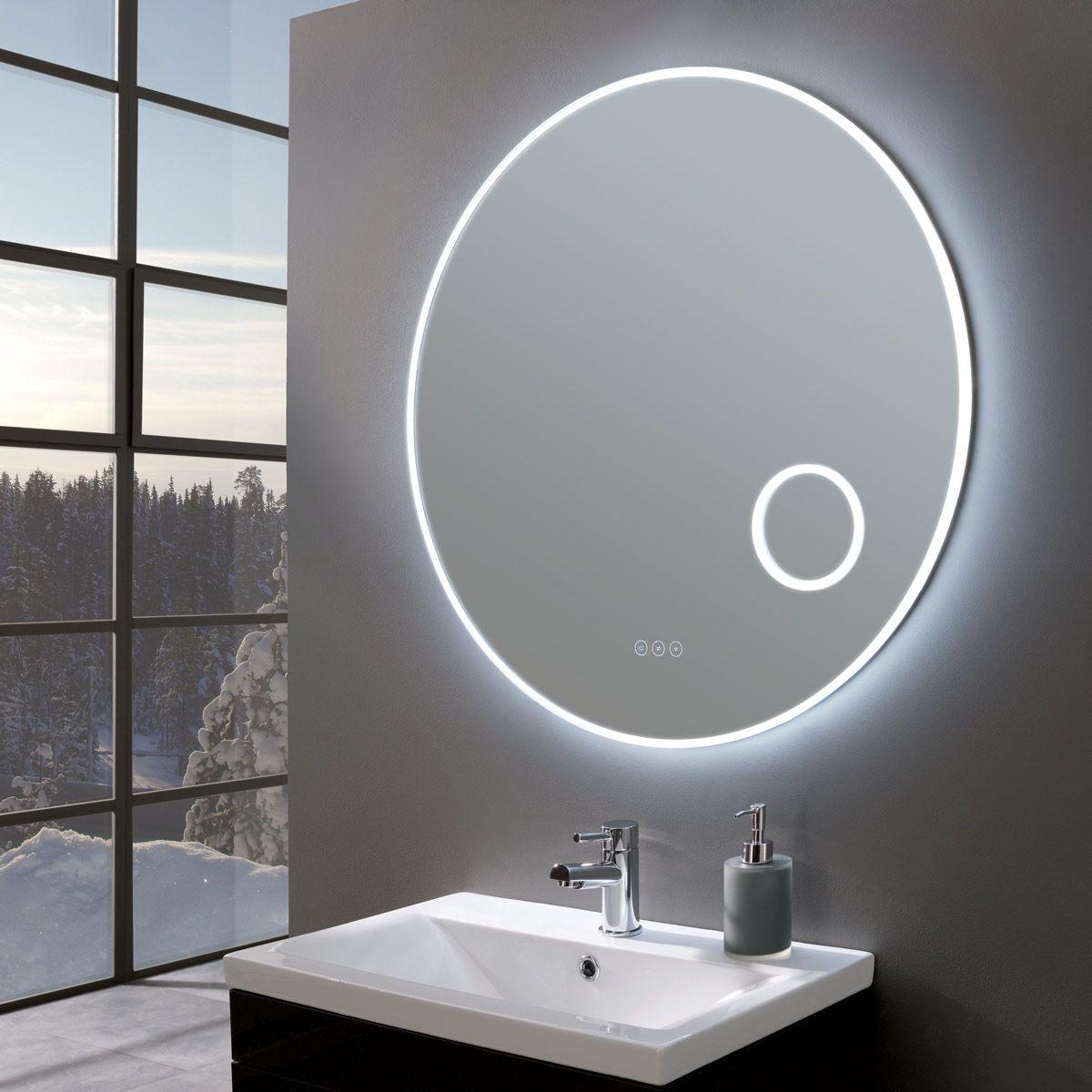 allureultraslimroundledilluminatedmirrorwithmagnifier600mm