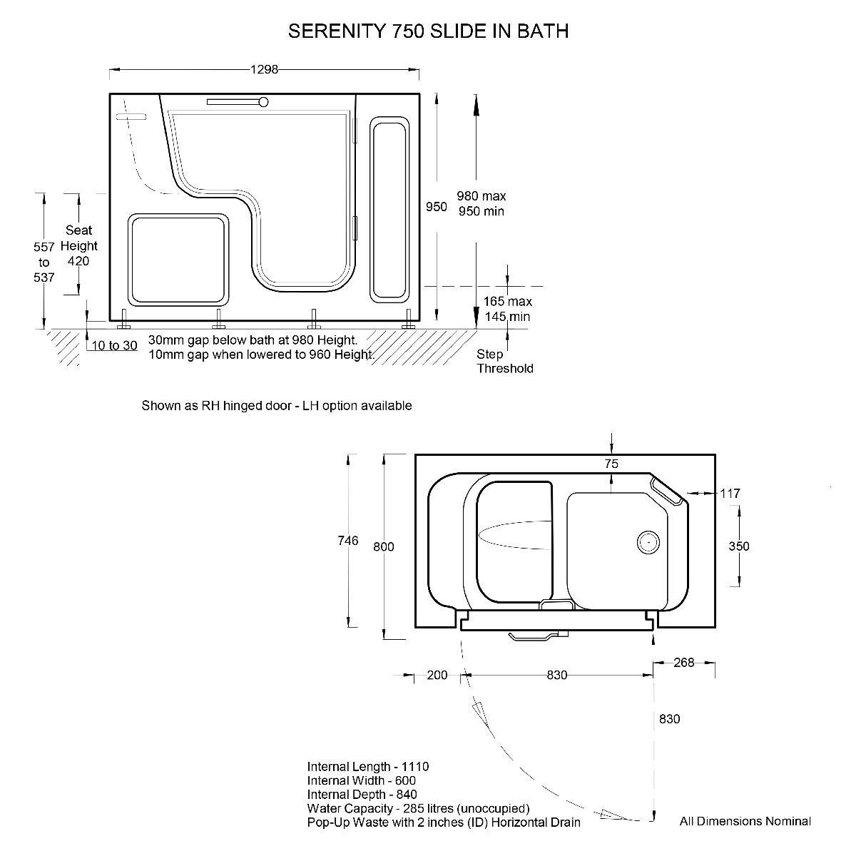 batheeasyserenitywalkinbath1300x750lefthanddimensions