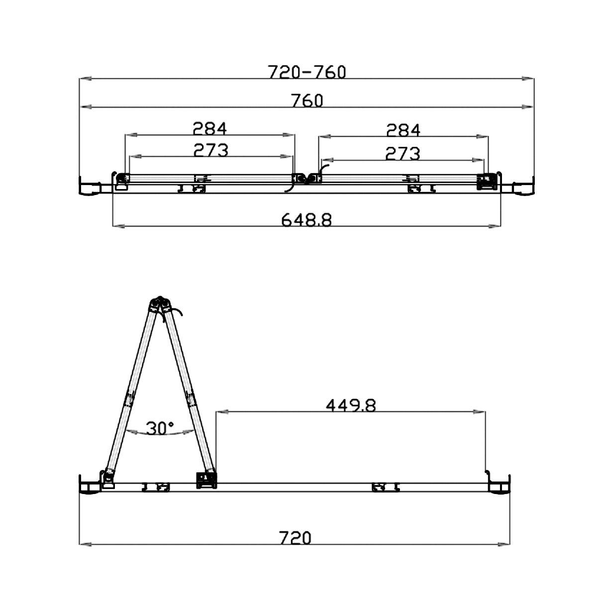 Coral 6mm Bifold Shower Door 760mm Dimensions 2