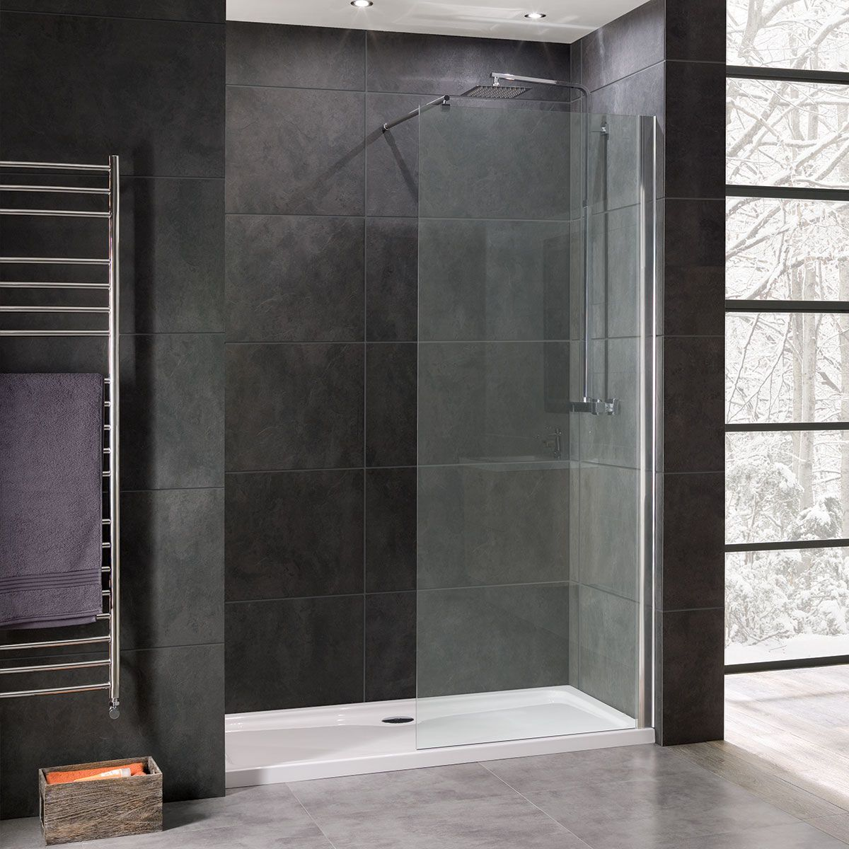 coral8mmwetroomglassshowerpanel1000mm